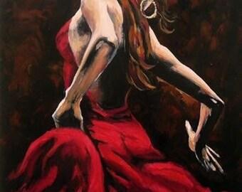 Paint flamenco dancer