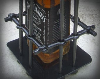 Whiskey bottle cage, Cage-box for your present, Gift for him