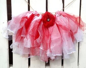 Red and white polka dot tutu