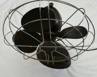Vintage Robbin & Meyers Table Fan steampunk art deco