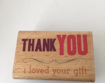 Thank You - Friendship - Scrapbooking - Card Making Supplies - Wood Mounted Stamp