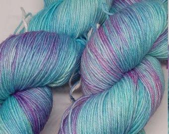Purple Rain - hand dyed sock yarn