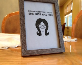 Framed Linda Bob's Burgers Quote
