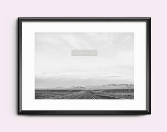 Print / Poster, 'Drive', Wall Art, Modern, Minimal, Wall Decor, Home Decor, Inspirational Print, Quote Print, Scandinavian