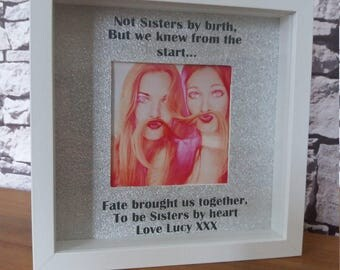 Personalised frame, best friends gift friends mates