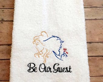 Beauty And The Beast Bathroom Towel 15in by 25in
