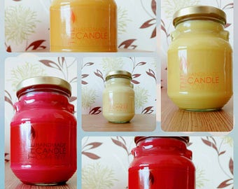 100% soy candle with fragrance