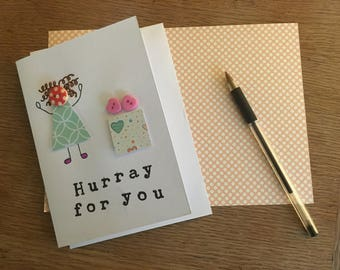 Hurray for you Greetings card