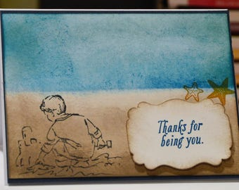 Beach Day Stampin' Up! Card