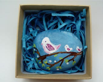 hand painted beach pebble gift.. can be customised