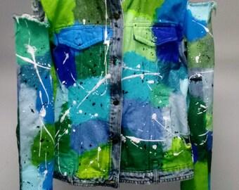 Hand Painted Vintage Jean Jacket