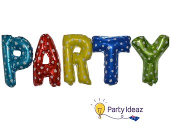 PARTY Letter Balloons - Kids / Adults Birthday Party Decoration - Free Shipping
