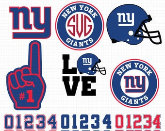 New York Giants- Cuttable Design Files(Svg, Eps,Dxf, Jpg) For Silhouette Studio, Cricut Design Space, Cutting Machines,Instant Download