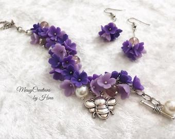 Lilac Bracelet set