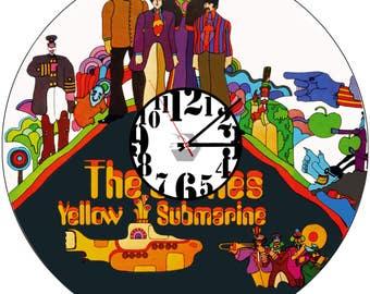 Custom Vinyl wall clock Beatles