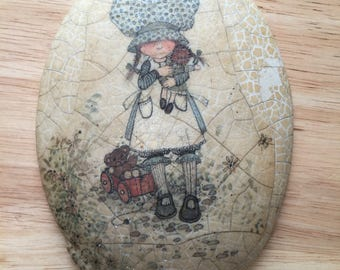Folk Art Ceramic Painting with message on the back