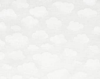 Clouds in White // Basics // Quilters Cotton