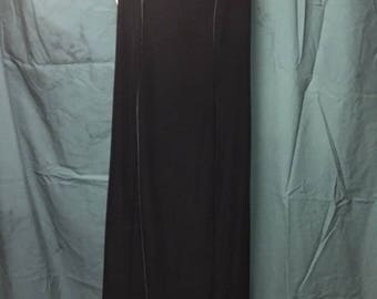 Blue Velvet Short Sleeve Dress White Collar
