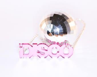 DISCO mirror necklace