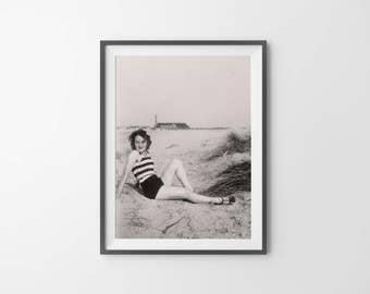 This Charming Girl Vintage Photo Print
