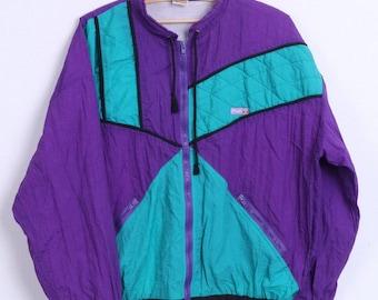 Ellesse Womens XL Track Top Jacket Nylon Waterproof Sport Vintage