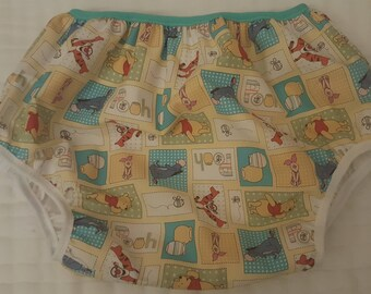 Adult Baby Diaper Cover Plastic Pants Pooh Tigger Print ABDL