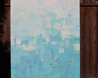 Original blue ombre 50x30