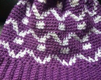 Crochet adult winter hat