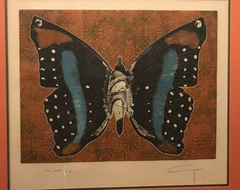 Alfonso Ayuso print of a butterfly