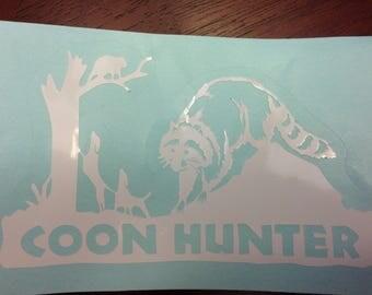 Coon Hunter Car Decal