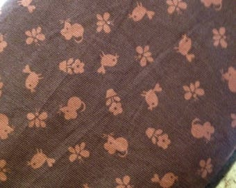 Timeless Treasures Corduroy Fabric, Flower Power Alice Kennedy CCD9474-12      -- 1/2 yard increments