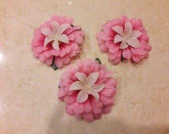 Pink Floral Hair Clip