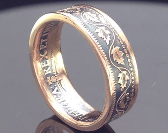 Canadian One Cent Coin Ring (1859-1920)
