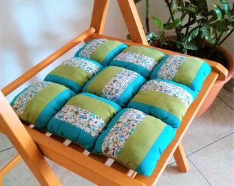 patchwork chair cushion outdoor decor indoor and outdoor chair pads colorful pillows