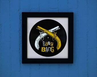 Vinyl screen printing spray guns / / post Guns Music