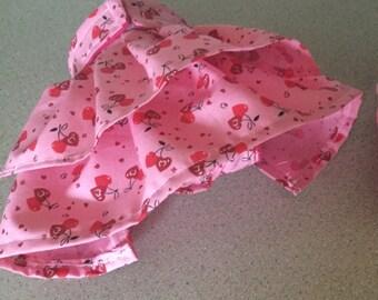 Handmade female dog diaper panty with pleated skirt