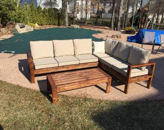 Outdoor Patio Sectional | Outdoor Section Furniture | Custom Patio Set |  Built To Order |