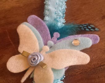 Felt Butterfly trio on Headband