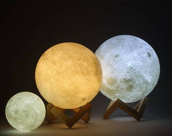 Galaxy Planet Moon 3D Light