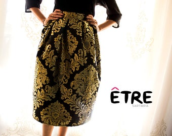 Women's elegant damask skirt