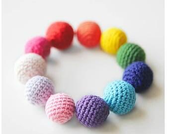 handmade knitting ball pom poms (3 set)