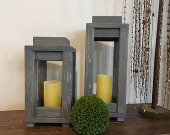 Wooden lanterns - wooden candleholder - rustic lanterns - home decor - wedding decor - rustic wedding - rustic decor - farmhouse decor