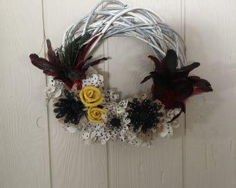 Birch twig wreath