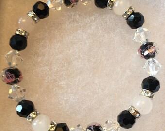 Rose Quartz and Swarovski Crystal