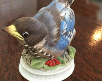 Lefton Porcelain Bluebird Figure  Japan 1950's