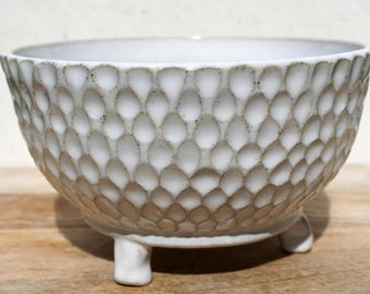 Honeycomb 3 Legged Planter -  Pottery - Ceramic - Herb pot