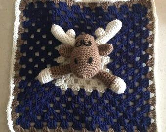 Moose Lovie Blanket