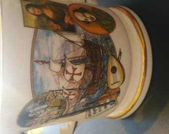 loving cup by aynsley ,the endevours of mankind,millennium 2000