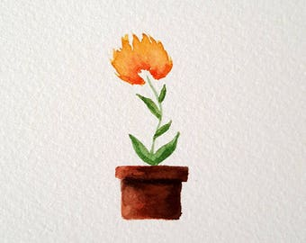 Watercolor Painting, Watercolor Picture Succulent Original, Succulent Painting, Succulent Picture, Watercolor Art (5x7)