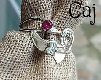 Nature Metalsmith Sterling Leaf Ring
